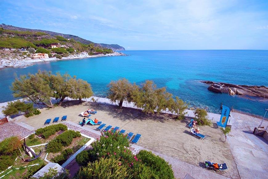 Hotel direttamente sul mare a seccheto isola d 39 elba - Sabbia per giardino ...